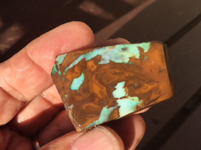 145Cts Boulder Opal Rough faced  me494
