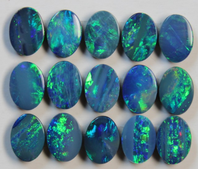 7.58 CTS  -  15 PIECES OPAL DOUBLE PARCEL CALABRATED D848