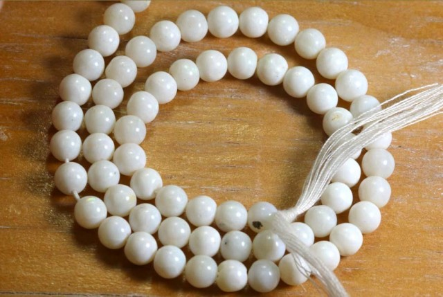 65 CTS COOBER PEDY WHITE OPAL BEADS STRANDS TBO-5457