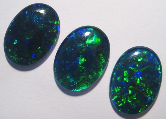 Beautiful parcel of 3 Gem Grade Australian Opal Triplets