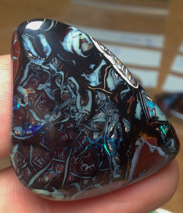 87cts Koroit Boulder Opal Picture Stone AD15
