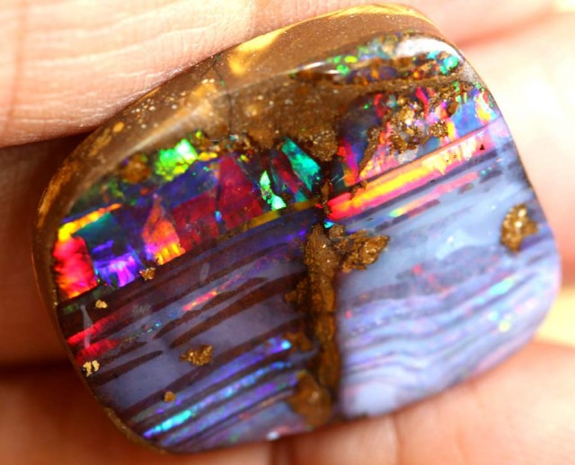 29.25 CTS QUALITY  BOULDER OPAL POLISHED STONE INV-447  GC