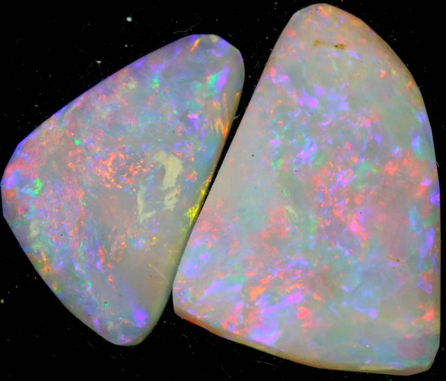 8.75 CTS  BLACK OPALS RUBS -LIGHTNING RIDGE [BR5016]
