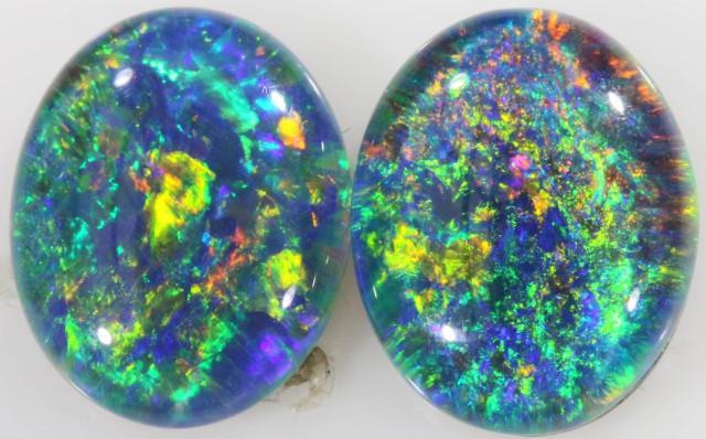 4.35 CTS A GRADE PAIR STUNNING TRIPLET OPAL [SO7896]