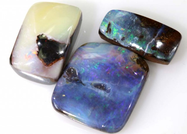 17.45 CTS 3PC BOULDER OPAL POLISHED STONE  ADO- 4314