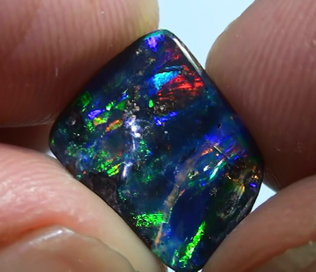 2.45 ct Full Electric Gem Color Queensland Boulder Opal