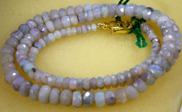 62.4 CTS CRYSTAL OPAL BEADS STRAND TBO-5782