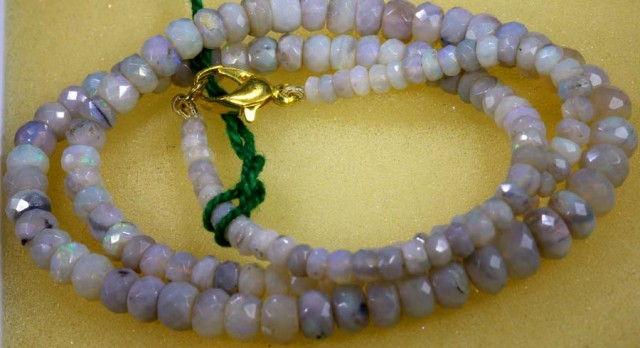 61.75 CTS CRYSTAL OPAL BEADS STRAND TBO- 5784