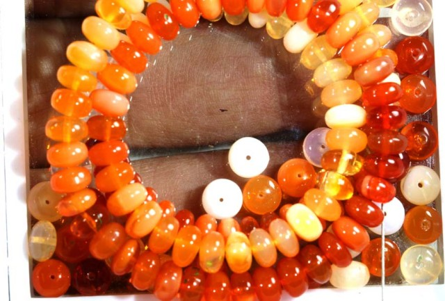 MEXICAN OPAL VVS QUALITY BEADS 60  CTS TBO-5835