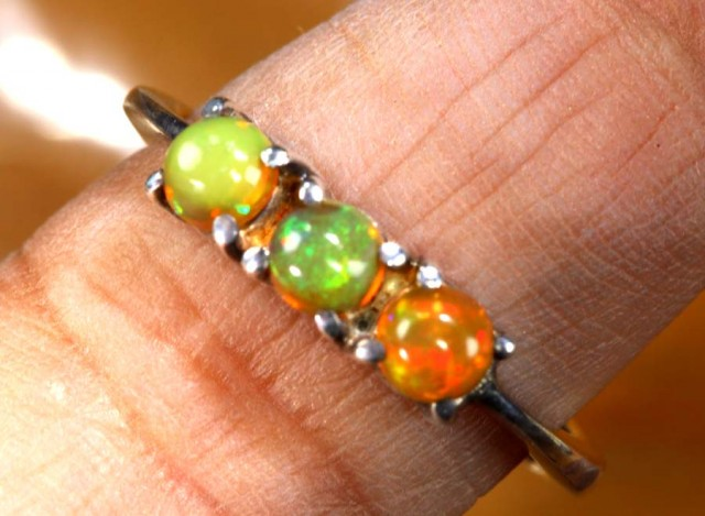 ETHIOPIAN OPAL RING STERLING SILVER 15.5  CTS    OF-1780