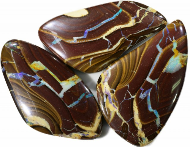 368 cts Well polished Koroit Boulder opal Set  BU2666