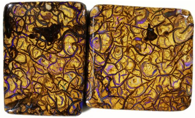 188 cts Well polished Koroit Boulder opal Set  BU2668