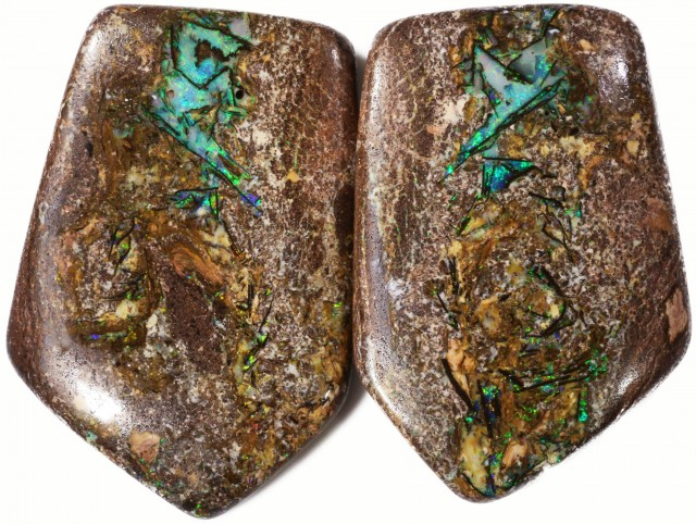 441.65 CTS PAIR BOULDER WOOD FOSSIL REPLACEMENT [BMA4205]