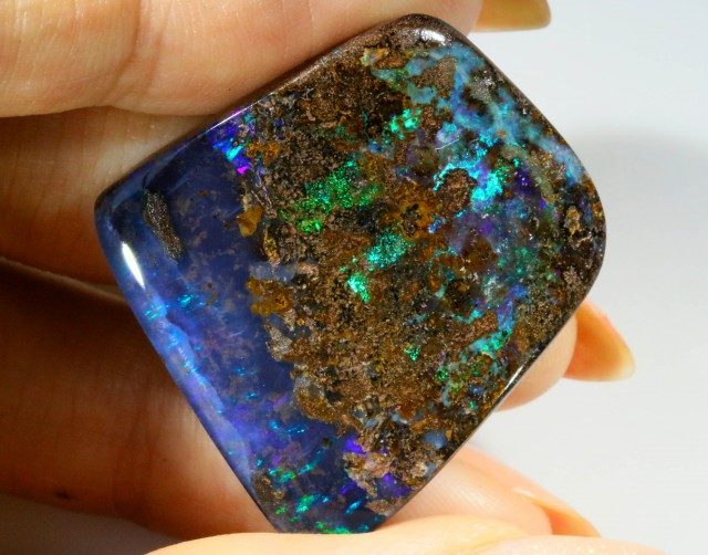 40.80 CTS WELL POLISHED BOULDER OPAL STONE [BMA4202]