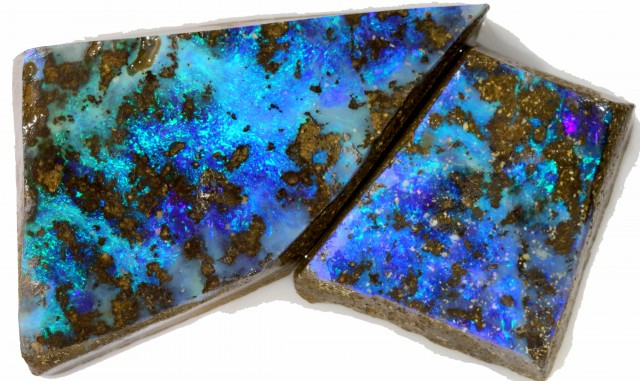 137 CTS ROUGH BOULDER OPAL PAIR [BMA4206]