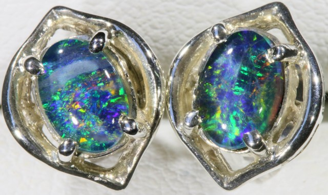 Opal Triplet set in Silver Earring SB 422