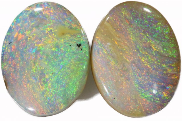 3.11 CTS WELL POLISHED BOULDER OPAL PAIR SAFE [BMA4231]