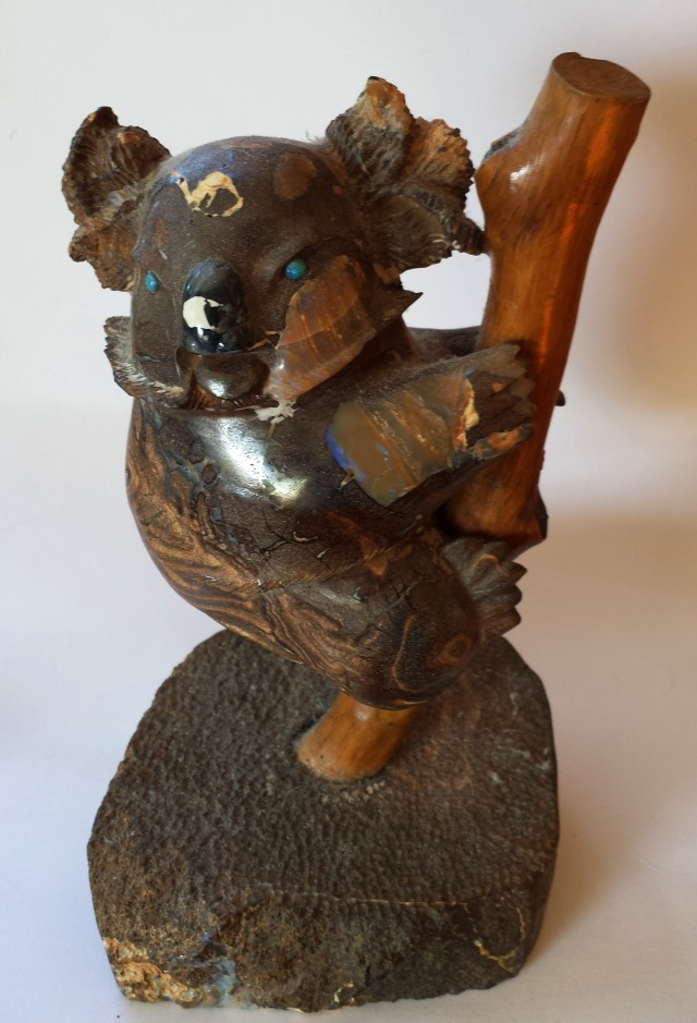 Queensland Boulder Opal Koala Carving