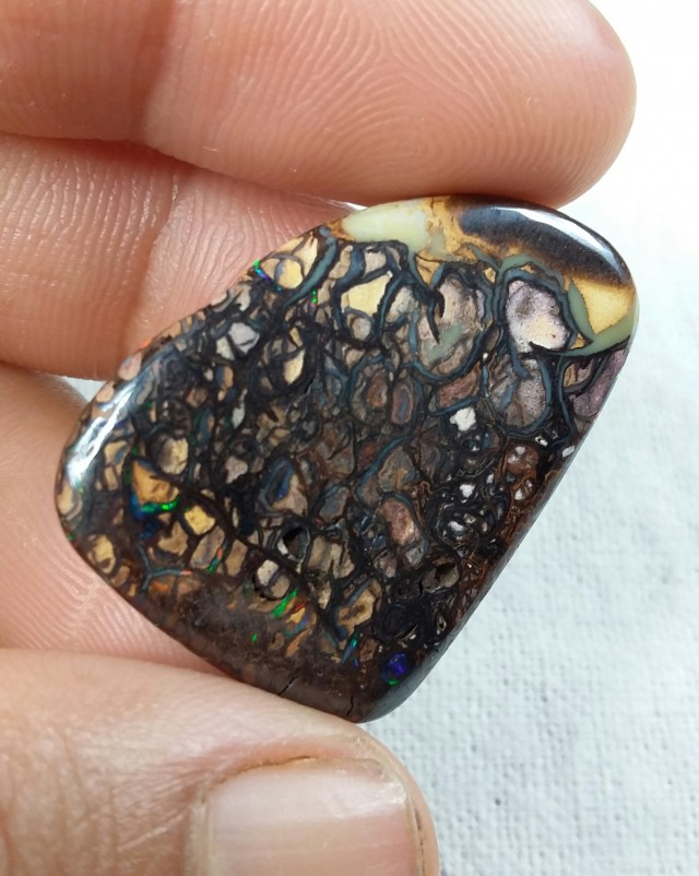 33.45 CT VIEW DOUBLE SIDED KOROIT BOULDER OPAL   SS0559