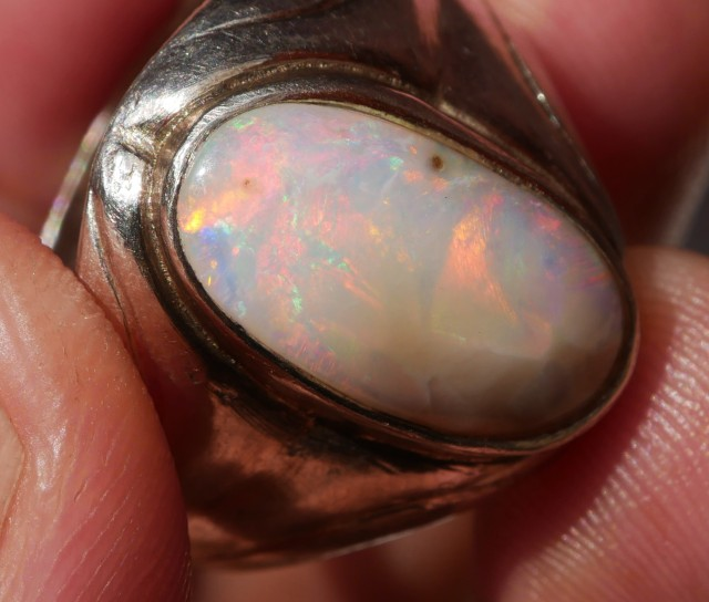 34.34 CRT WITH RING + MEMO INDONESIAN OPAL MILKY BASE RARE #