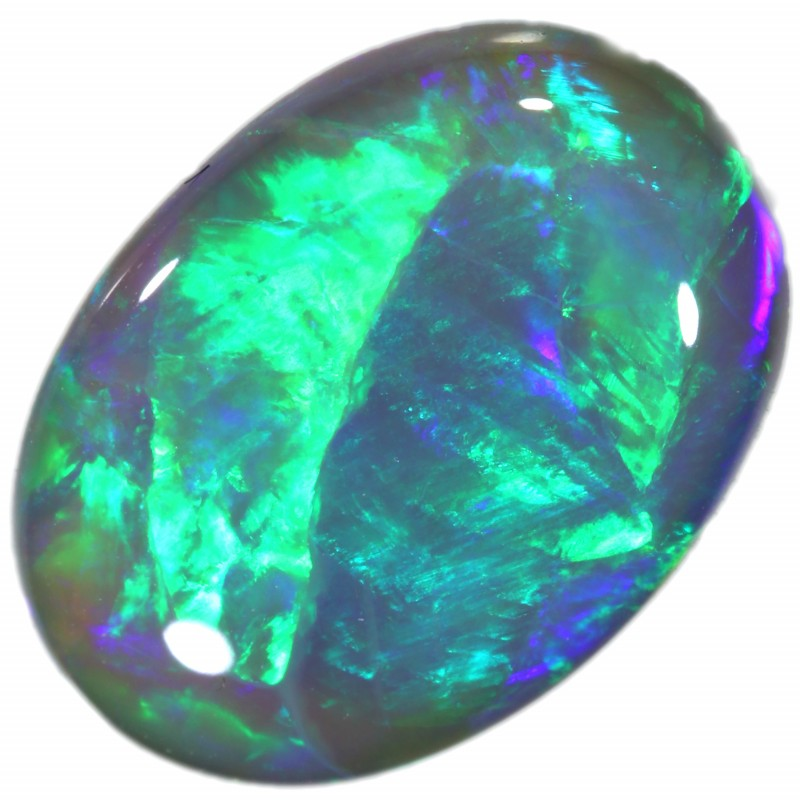 3.20 CTS BLACK CRYSTAL OPAL FROM LIGHTNING RIDGE[BC10 ]