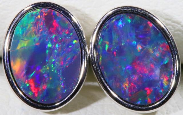 Modern design Opal Doublet Earring CF 812