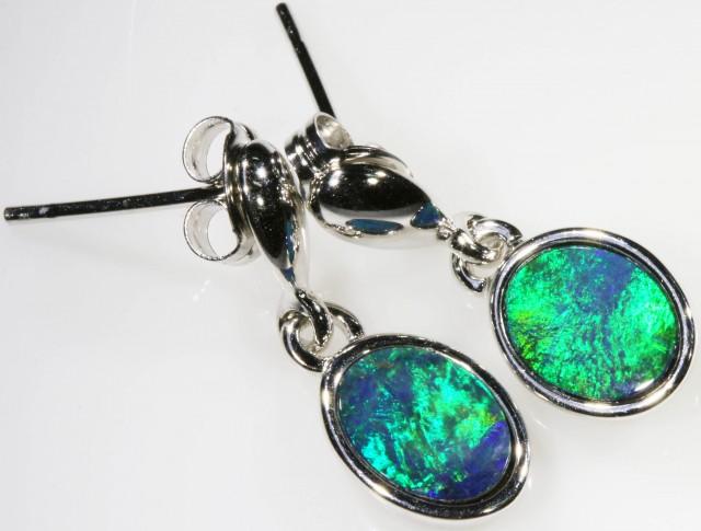 Modern design Opal Doublet Earring CF 813