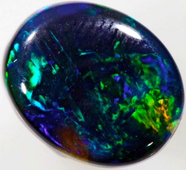 1.28 CTS BLACK  OPAL - LIGHTNING RIDGE- [SOB43]