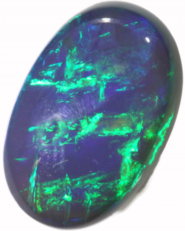 6.71 CTS BLACK CRYSTAL OPAL FROM LIGHTNING RIDGE [BC20]