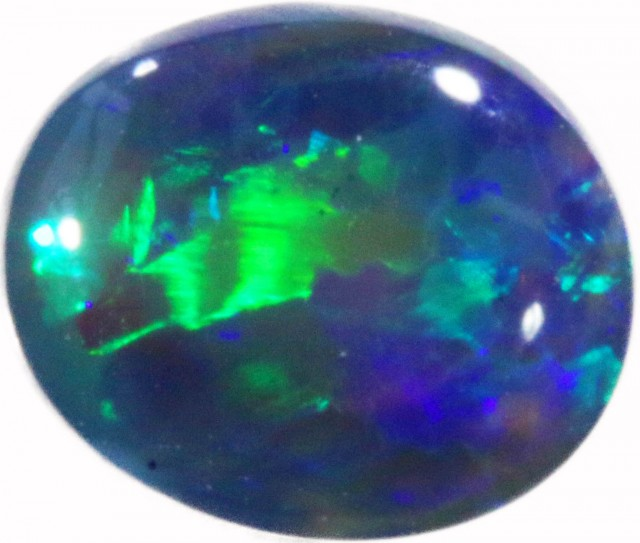 0.65 CTS BLACK CRYSTAL OPAL FROM LIGHTNING RIDGE [BC22]