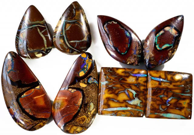 224.40 CTS BOULDER OPAL PAIR PARCEL -WELL POLISHED  [MSS564]