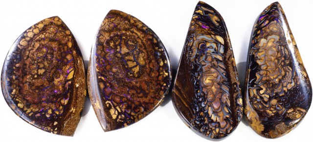 241.85 CTS BOULDER OPAL PAIR PARCEL -WELL POLISHED  [MSS565]