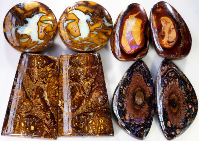 282.35 CTS BOULDER OPAL PAIR PARCEL -WELL POLISHED [MSS 568]