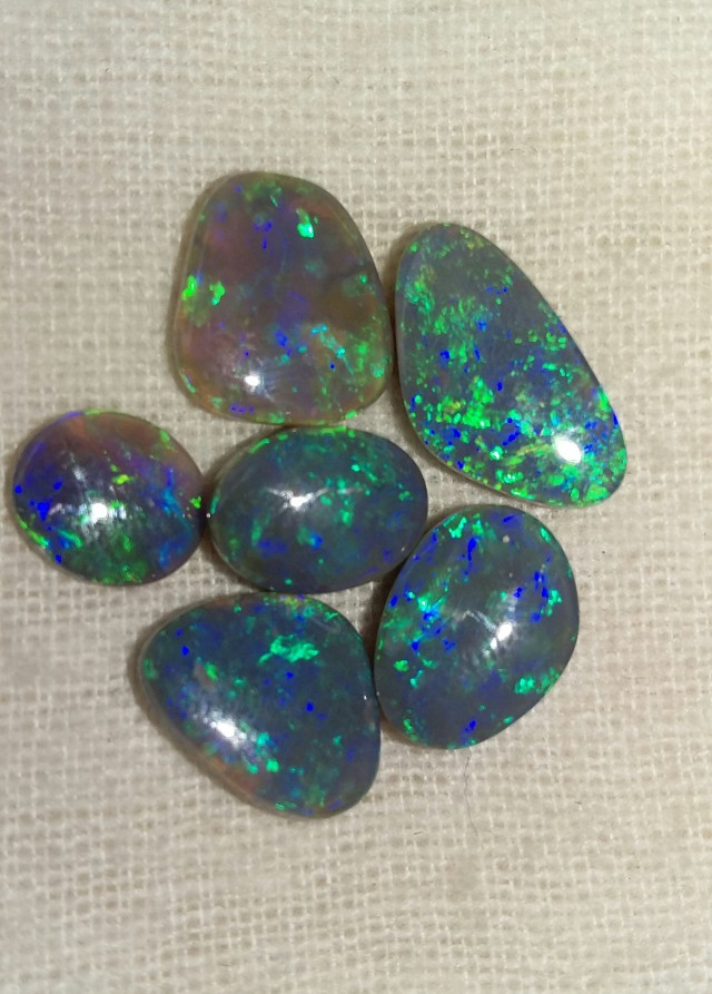 14.75 CT VIEW LIGHTNING OPALS PARCEL BLACK OPAL  SS0613