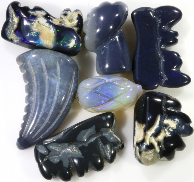 42.20 CTS BLACK OPAL CARVINGS DEAL [BO 24]