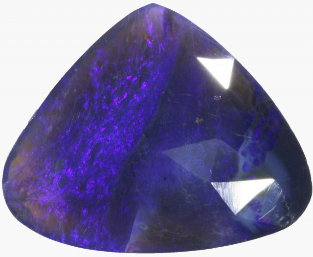 18.1 CTS FACETED BLACK OPAL DOUBLE SIDED  [BF6]
