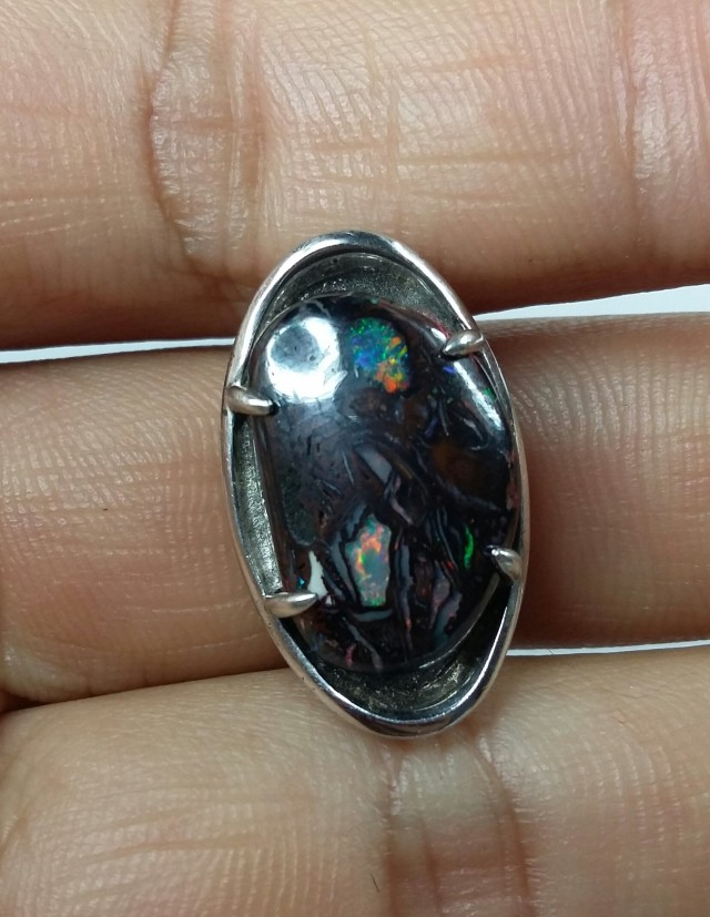 49.15 CT  VIEW KOROIT BOULDER OPAL RING WITH SILVER  SS0877