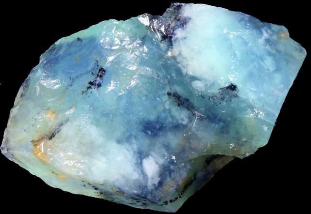 117.60 CTS BLUE PERU OPAL ROUGH  [VS 7476]