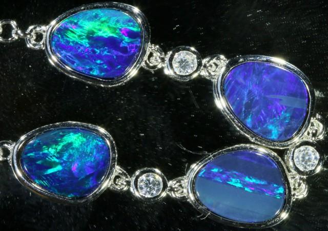 6.00 CTS Doublet Opal Bracelet , top design sterling silver  SB1151