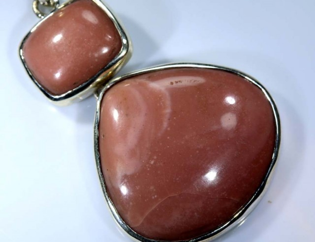 58.6 CTS PINK OPAL PENDANT SILVER OF-1818