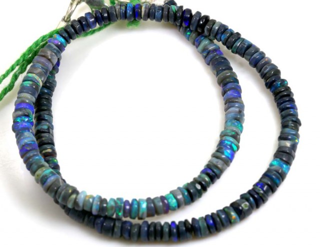 102.7 CTS BLACK OPAL BEADS STRAND TBO-6119