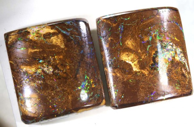 34.30CTS BOULDER OPAL PAIRS POLISHED CUT STONE TBO-6142