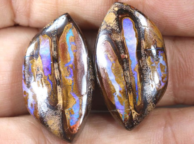 48.75CTS BOULDER OPAL PAIRS  POLISHED CUT STONE TBO-6148