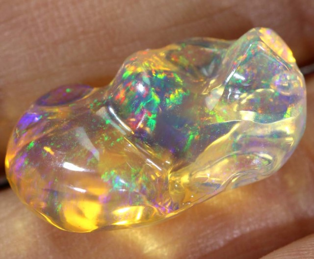 10.6 CT  Contraluz Polished Mexican Fire Opal INV-558 GC