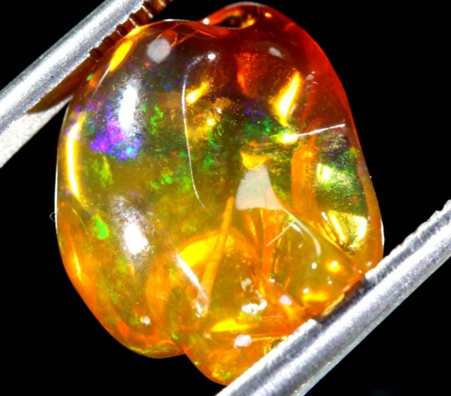 5.5 CT  Orange Polished Mexican Fire Opal INV-565 GC