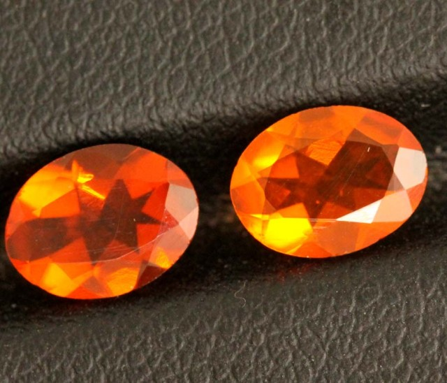 1.3CTS OPAL MEXICAN FACETED PAIR 2 PCS FOB-1000
