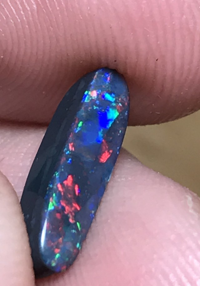1.57ct Lightning Ridge Gem Black Opal LR151