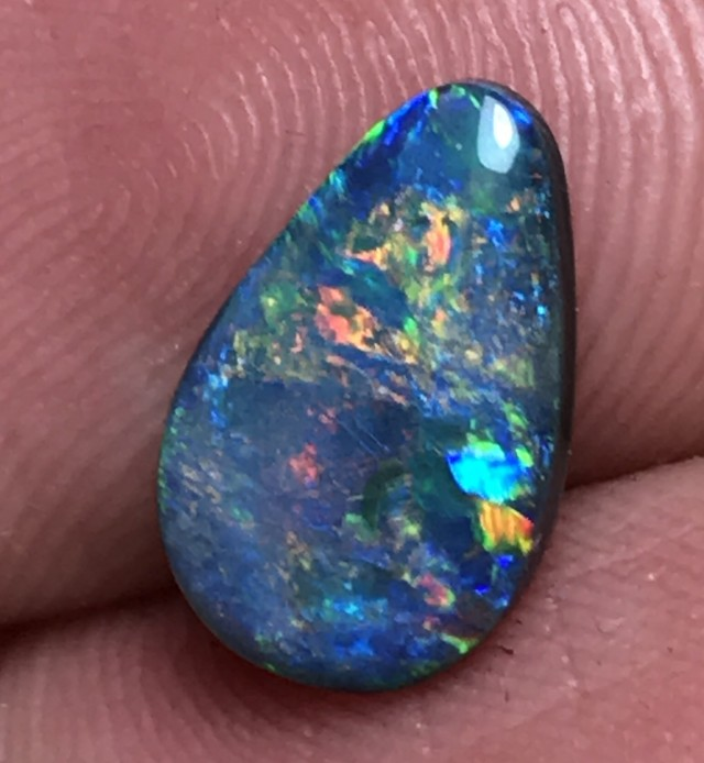1.75ct Lightning Ridge Gem Black Opal LR153