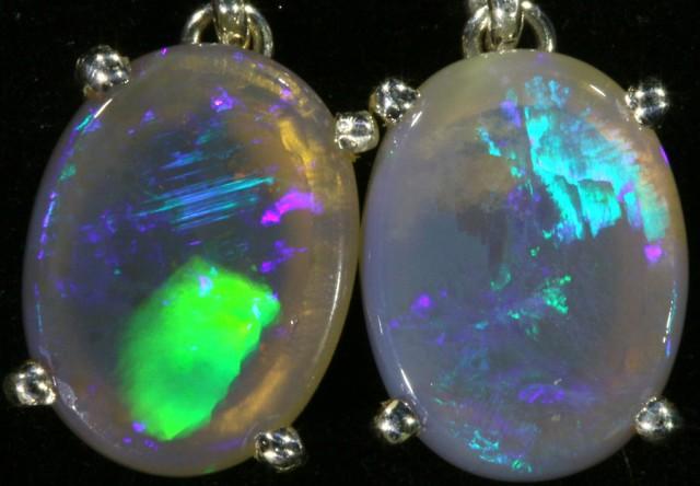 5.70 CTS Crystal opal earrings set in  silver  SB 538