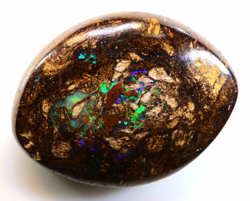 18.45CTS BOULDER WOOD FOSSIL OPAL STONE  NC-4754
